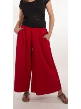Pantalones anchos rojos