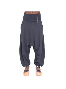 Pantalones afganos gris acero