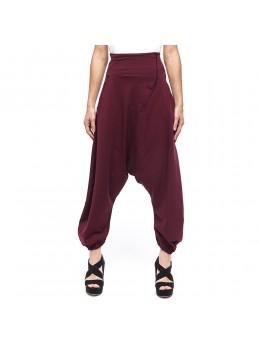 Pantalones afganos ciruela