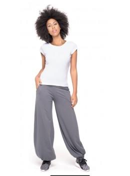 Pantalones globo gris