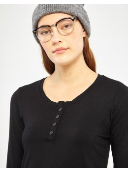 Camiseta xantik botons viscosa negra