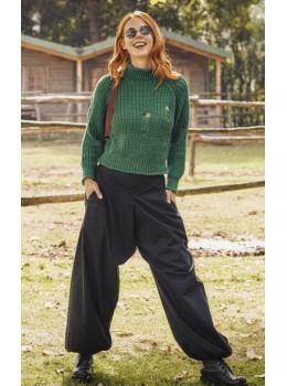 Pantalones negros ancho