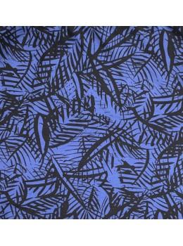 Falda hojas azul