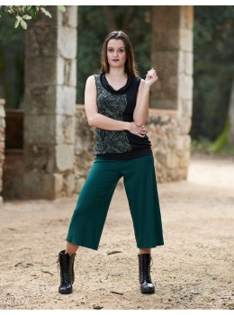 Pantalons 3/4 verds