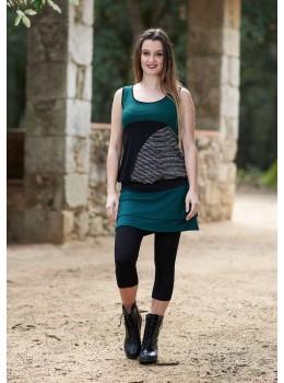 Falda doble verde