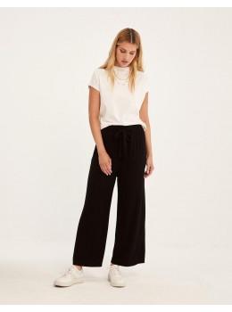Pantalons goma cinturó negre