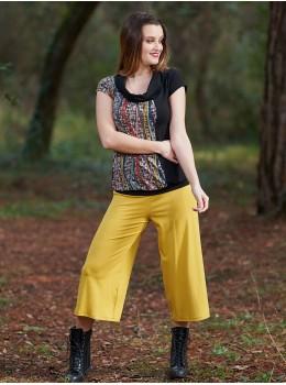 Pantalones 3/4 mostaza