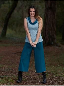 Pantalones 3/4 azul petróleo