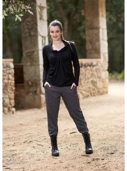 Pantalones pitillo jacuard