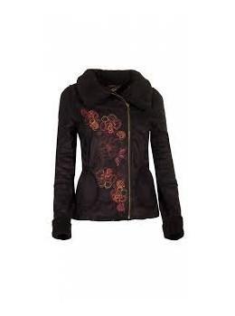 Jaqueta brodada negre