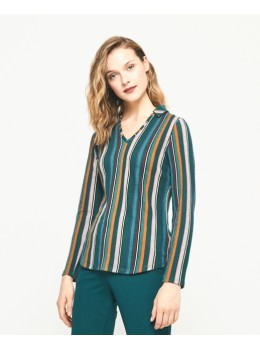 Jersei Surkana coll stripes verd