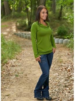 Camiseta Intens cuello verde aceituna