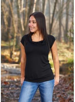 Camiseta m/c coll negra