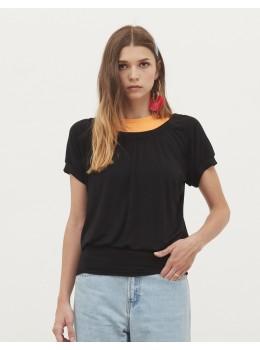 Camiseta goma cintura xantik negra