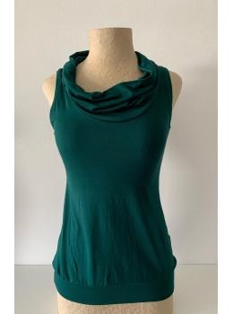 Camiseta tiras cuello verde