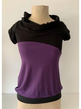 Camiseta m/c coll combi lila