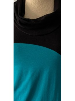 Camiseta m/c cuello combi petrol