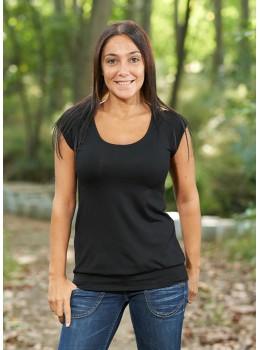 Camiseta m/c cuello redondo negro