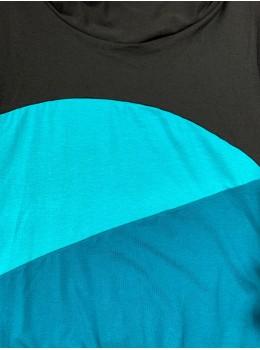 Camiseta m/c cuello eli petrol